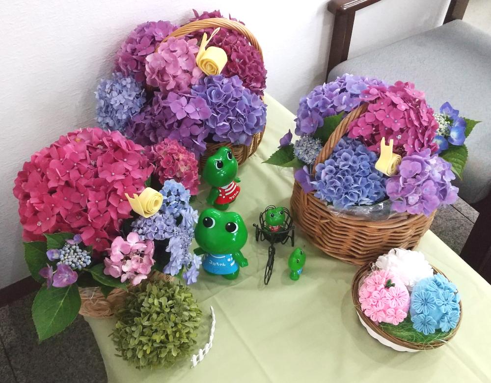 原田事業所の紫陽花